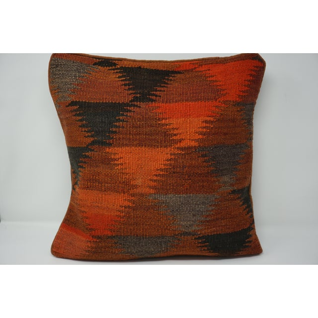 Vintage Turkish Kilim Pillow Cover For Sale - Image 5 of 6