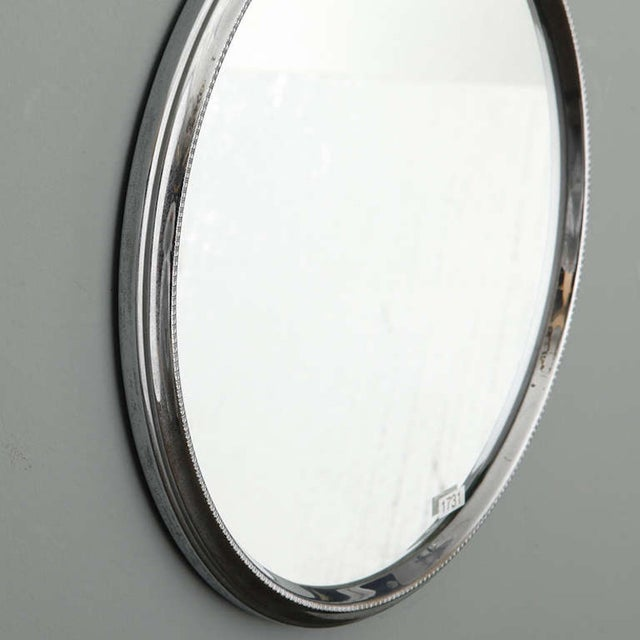 Mid-Century Round Silver Mirrors - A Pair - Image 3 of 6