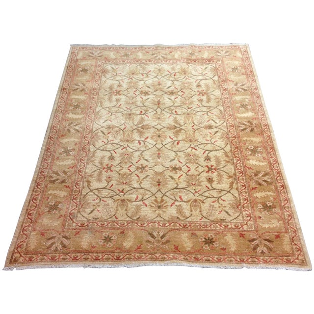 Red & Tan Floral Pattern Area Rug - 8' X 6' - Image 1 of 8