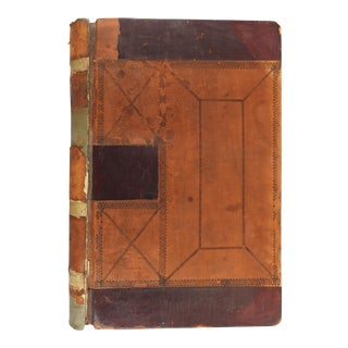 Distressed Leather Court Ledger 1911 Pennsylvania For Sale