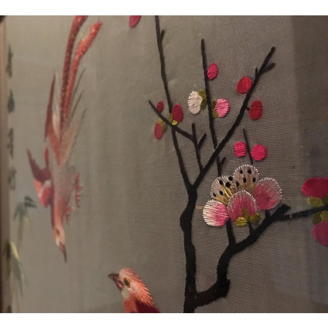 Vintage Chinese Suzhou Embroidery For Sale - Image 5 of 7