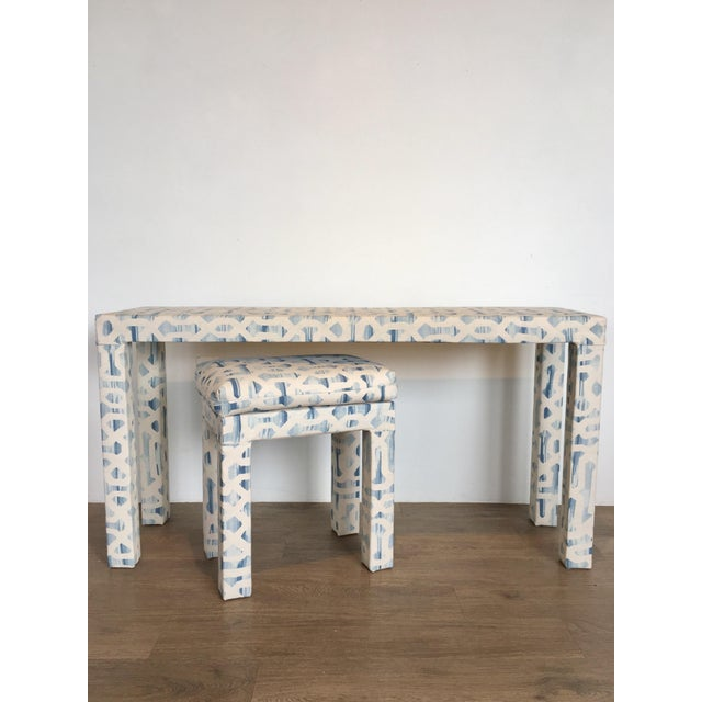 Blue Parsons Console & Bench For Sale - Image 8 of 8