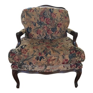 Lockhart Collection French Style Bergere Chair With Down Cushions