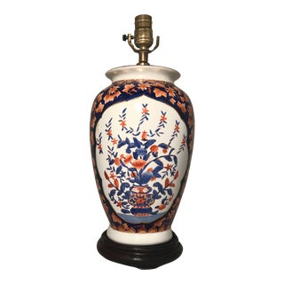 Early 20th Century Imari Style Porcelain Vase Table Lamp For Sale