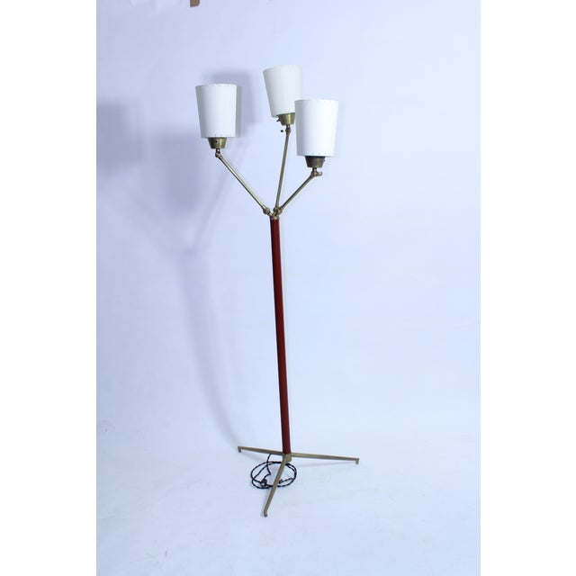Jacques Adnet Jacques Adnet Multi Shade Floor Lamp For Sale - Image 4 of 8