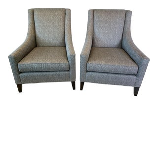 Mitchell Gold + Bob Williams Tall Back Cara Chairs- a Pair For Sale