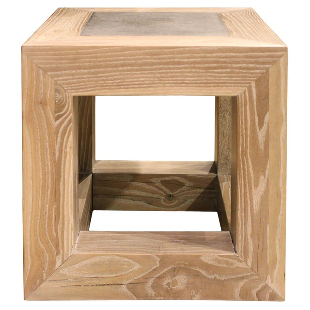 Stone Top Cube Table For Sale