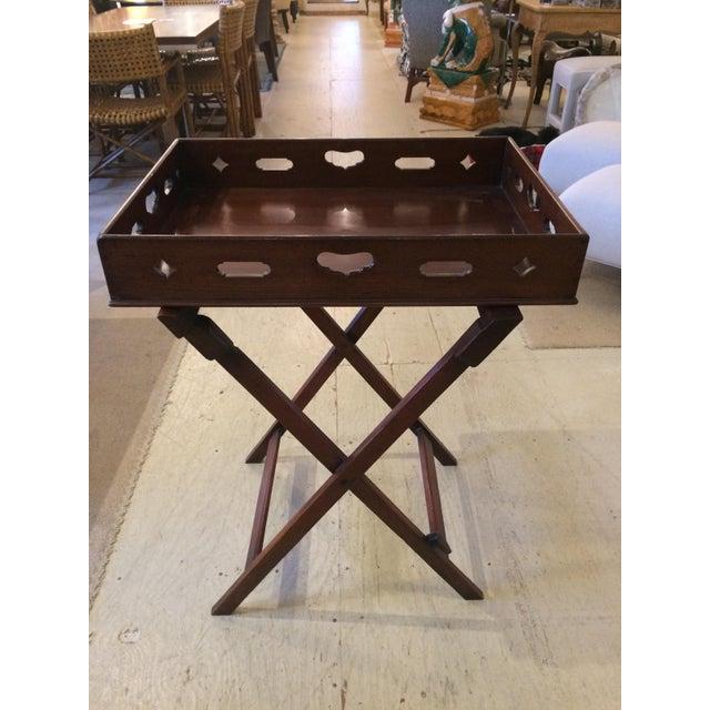 Mahogany English Traditional Mahogany Butler's Tray Table For Sale - Image 7 of 11