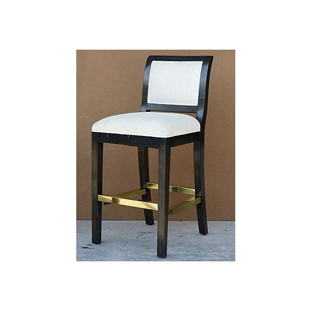 A high quality bar-stools, sold individually and purchased from a designer showroom at the DCOTA design center. Some wear...