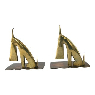 Art Deco Scottie Bookends - a Pair