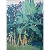 Image of 'Maui Banana Tree Grove' Painting by Contemporary Expressionist George Brinner For Sale