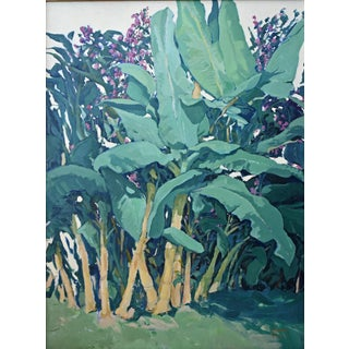'Maui Banana Tree Grove' Painting by Contemporary Expressionist George Brinner For Sale