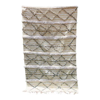 Tribal Moroccan Handcrafted Wedding Blanket Throw with Sequins 7 For Sale