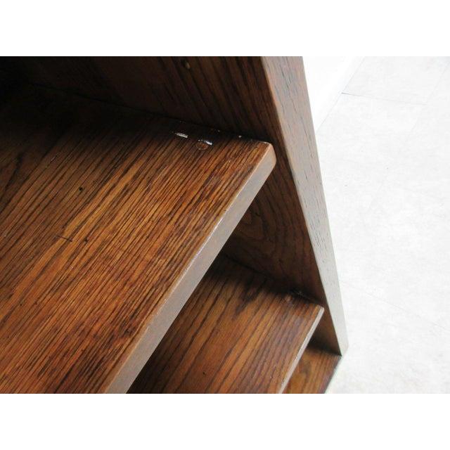 Wood Henredon Oak Campaign Scene One Book Case Dresser For Sale - Image 7 of 8