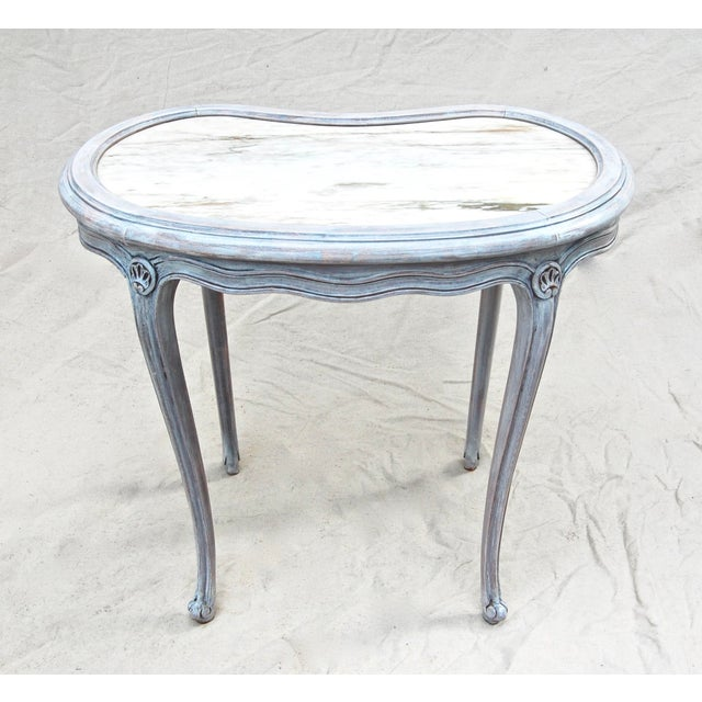 White French Kidney Shape Marble Top Table For Sale - Image 8 of 12