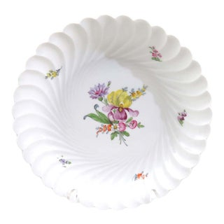 Intage Nymphenburg Serving Bowl, Large Round Dresden Flowers Bowl, 1012 For Sale