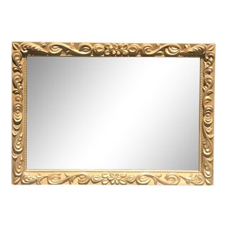 Mid Century Modern Gilded Ornate Wall Mirror For Sale