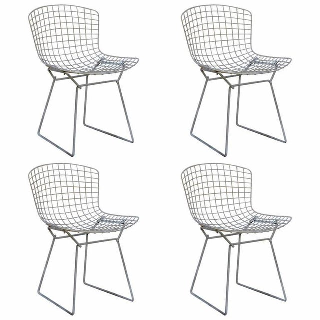 Set of Four Original Wire Chairs by Harry Bertoia for Knoll For Sale - Image 9 of 9