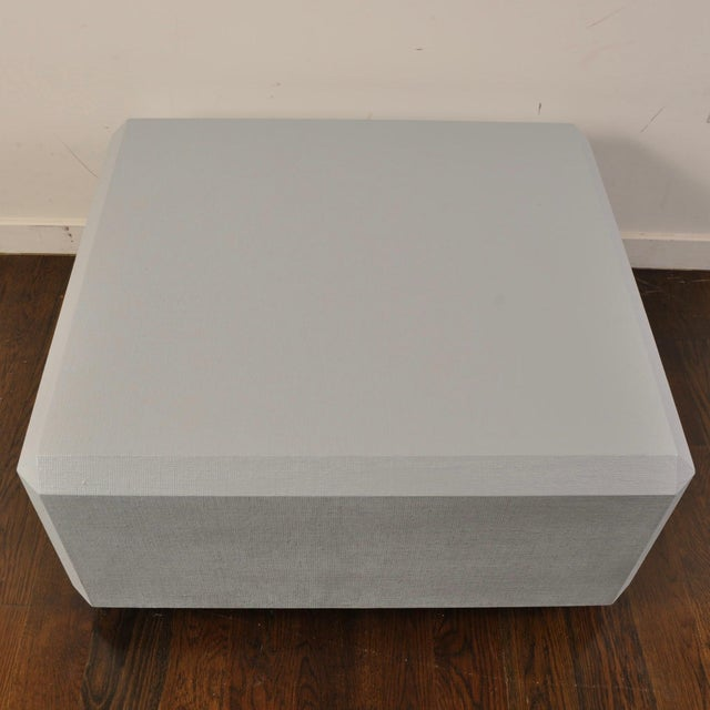Karl Springer Style Lacquered Grass Cloth Coffee Table For Sale - Image 4 of 8