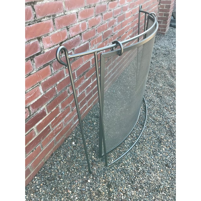 Transitional Wrought Iron Fireplace Screen - Image 3 of 4
