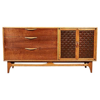 1960s Lane Furniture Basketweave Buffet For Sale