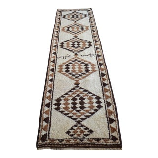 1970s Hand-Knotted Kurdish Runner For Sale