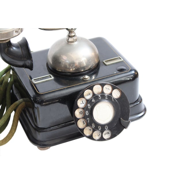 Antique European Kjobenhavns Cradle Telephone - Image 3 of 6