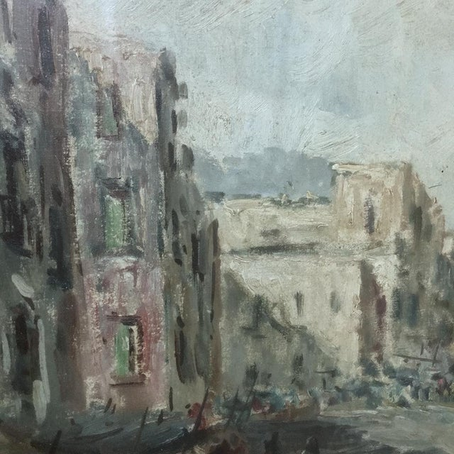 Antique Impressionist Framed Oil Painting by Francesco Filosa (1910-1990) For Sale - Image 9 of 11