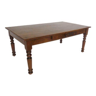 Antique Guatemalan Wooden Coffee Table With Turned Legs For Sale