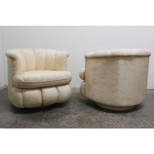 80s Glam Swivel Chairs - A Pair - Image 5 of 7