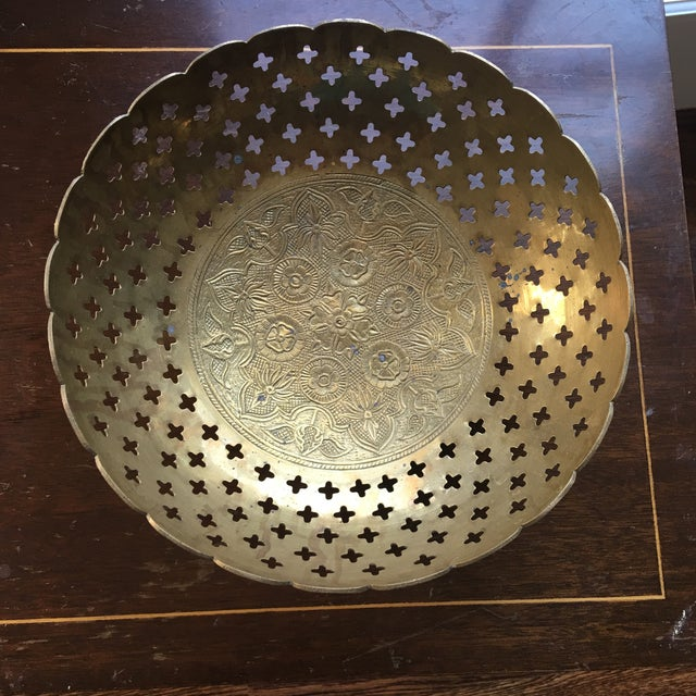 Brass Bowl With Quatrefoil Detail - Image 2 of 11