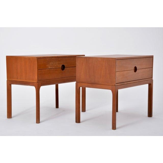 Mid-Century Modern Teak Nightstands by Aksel Kjersgaard for Odder, 1955, Set of Two For Sale - Image 3 of 12