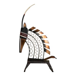 Curtis Jere Bambara Antelope Wall Hanging or Table Top Metal Sculpture For Sale