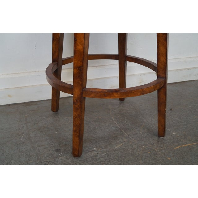 Biedermeier Style Swivel Bar Stools - A Pair - Image 10 of 10