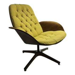 1960s Vintage George Mulhauser for Plycraft Swivel Lounge Chair For Sale