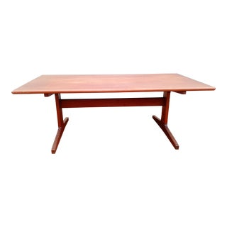 1960s Danish Sled Leg Coffee Table For Sale