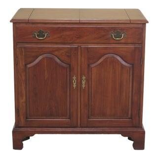 1970s Vintage Henkel Harris Cherry Flip Top Server Bar Cabinet For Sale