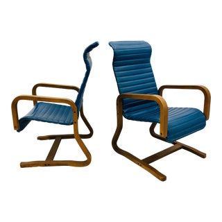 Pair Mid Century Modern Arm Chairs For Sale