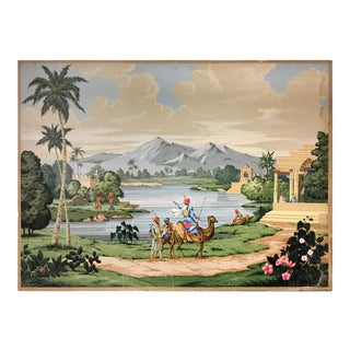 French Scenic Wallpaper Inspired Painting