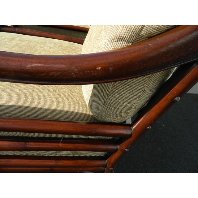 Palecek Colonialwood Club Chairs - A Pair - Image 10 of 11