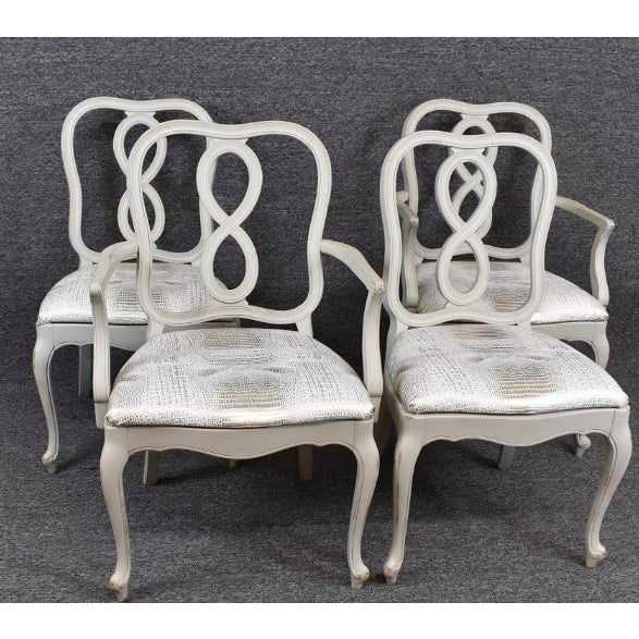 Set of Four French Country Louis XV Style Dining Chairs For Sale - Image 11 of 11