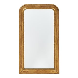 Louis Philippe Antique Gold Leafed Mirror For Sale