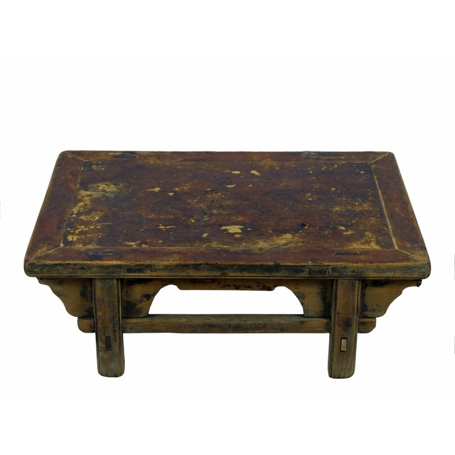 Reclaimed Wood Shandong Accent Table For Sale - Image 4 of 6