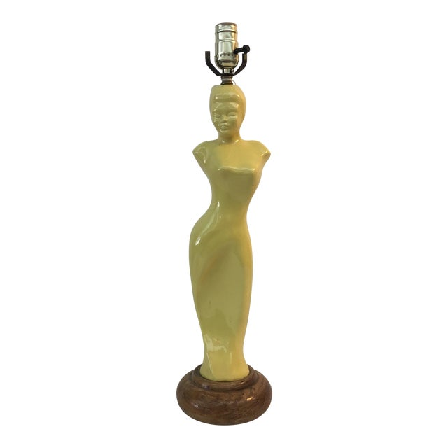 1940's Asian Motif Glamour Girl Lamp . - Image 1 of 5