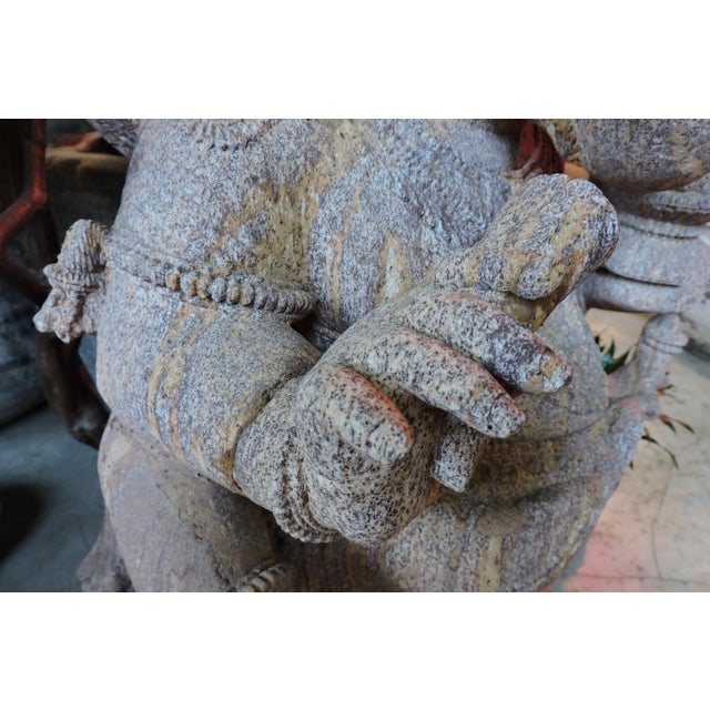 Anonymous Red Granite Ganesh For Sale - Image 4 of 5