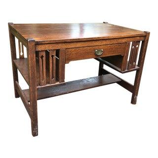1910s Mission Bohm Cabinet Co Writing Desk For Sale