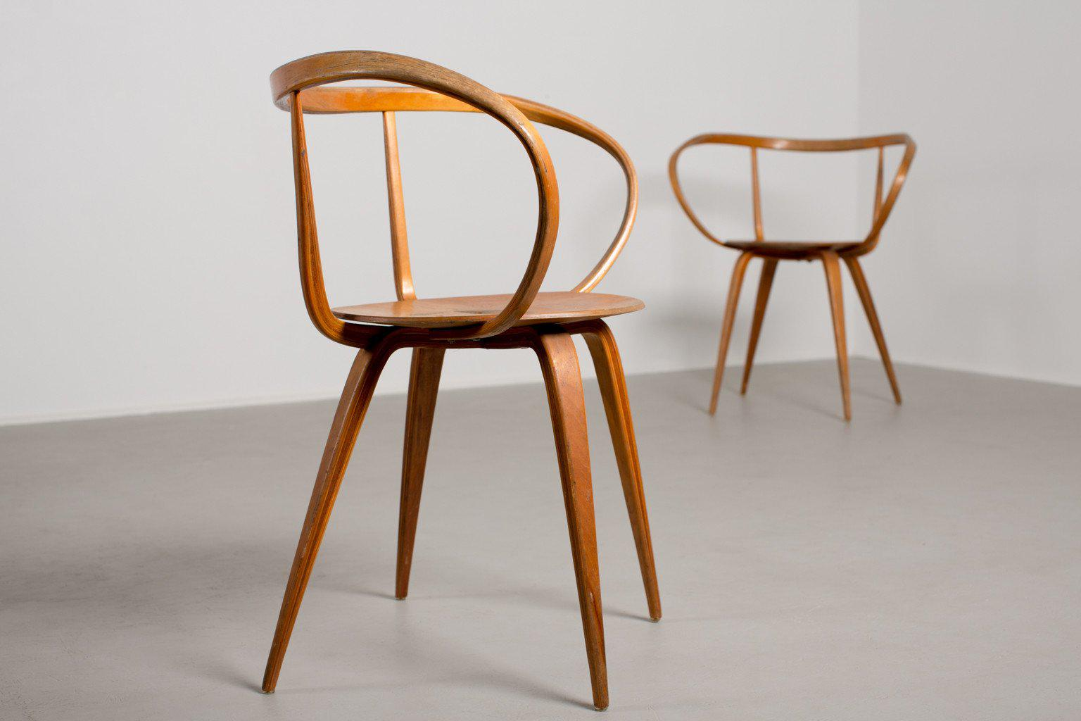 George Nelson For Herman Miller Pretzel Chairs   A Pair   Image 2 Of 10