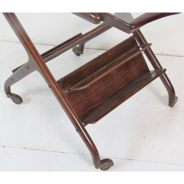Mid-Century Modern Ico Parisi Style Bar Cart For Sale - Image 3 of 4