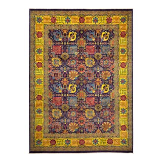 """Contemporary Hand-Knotted Area Rug 9' 10"""" x 13' 9"""" For Sale"""