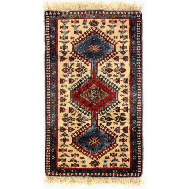 "Traditional Pasargad N Y Persian Yalameh Rug - 2'1"" X 3'5"" For Sale - Image 4 of 4"
